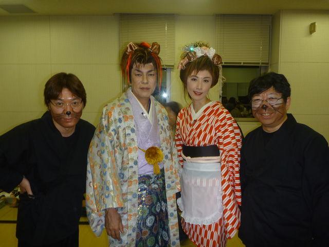 盛岡文士劇、初日終了: 流れる雲...